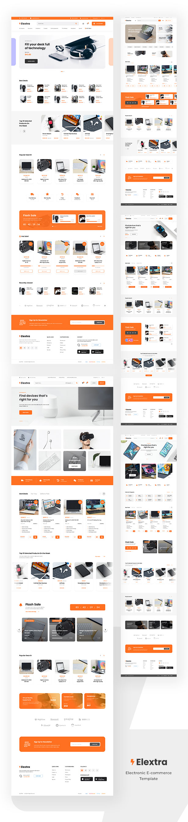 Elextra - Electronic eCommerce PSD Template - 2
